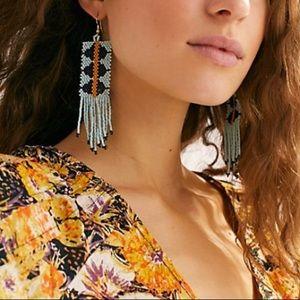 Free people Geo seeds beaded earrings